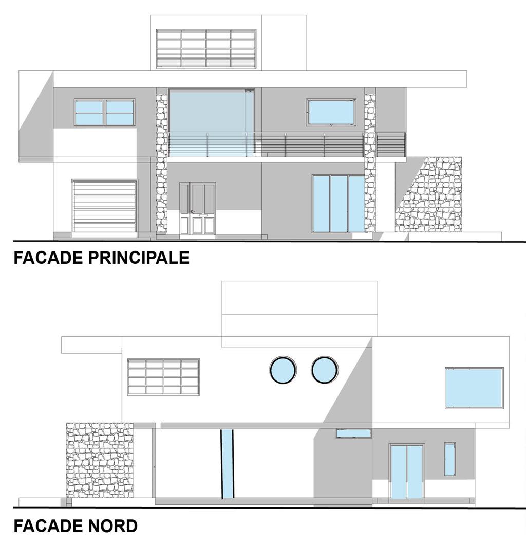façade P et N villa Basel