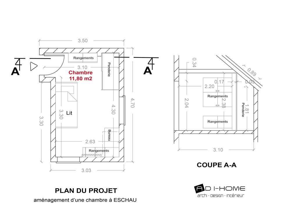 plan projet chambre ESCHAU