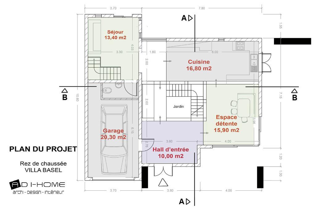 plan rdc villa Basel