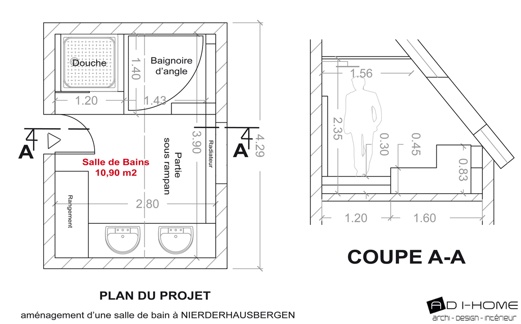 Design douches a l italienne angers 2133 douches for Plan douche italienne