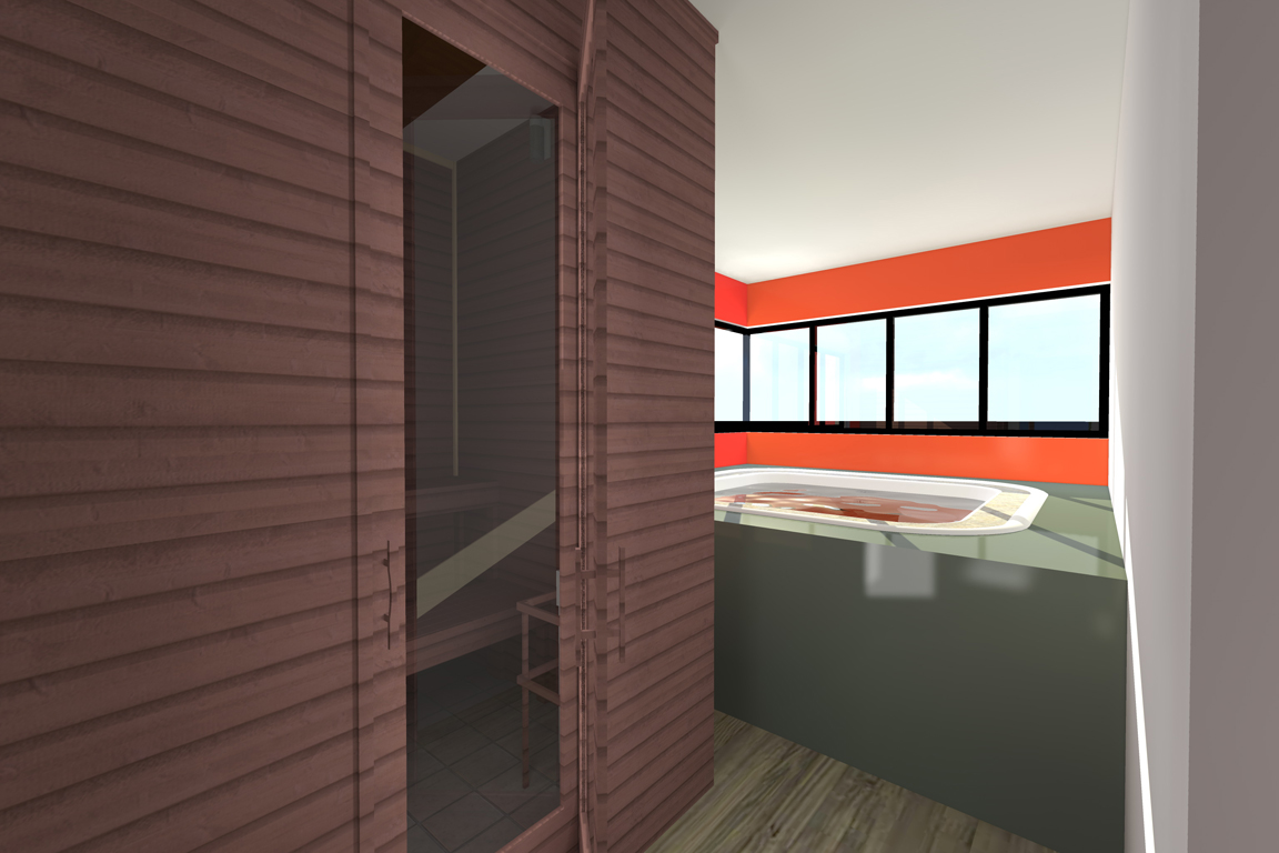 jacuzzi et sauna villa basel